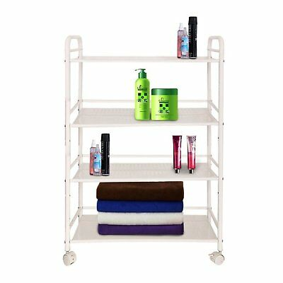 4 Shelves Multiware Beauty Salon Trolley Therapy Dentist Hairdresser Large Side