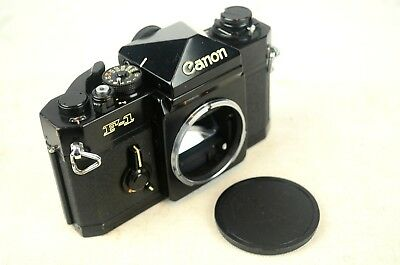 VINTAGE CANON F-1 BLACK BODY SLR 35mm CAMERA