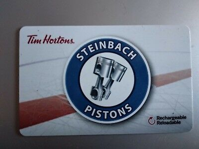 Tim Horton's -2018 Steinbach Piston's - Collectible Gift Card
