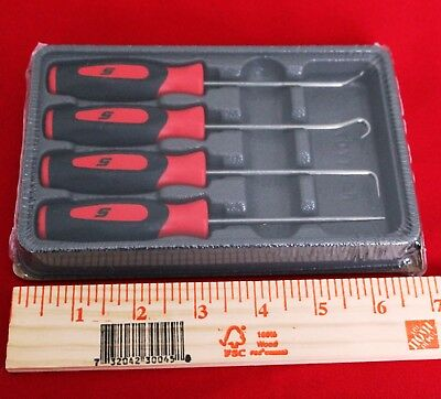 Snap On Tools  Mini Soft Grip Pic  4 Pieces Set Red New!