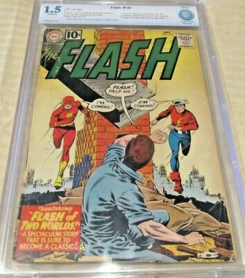 Flash #123 (1St Golden Age Flash In Silver Age) Huge Mega Key Dc Issue Cgcs 1.5!