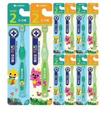 Pinkfong Baby Shark Perio Kids Toothbrush 10pcs For3-5Y Children Oral Care Korea