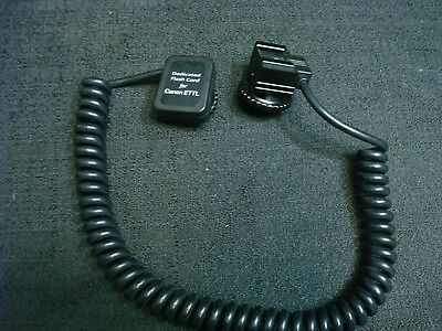 3 Foot Flash Extension Cord Canon EOS Off Camera TTL DSLR Coiled Heavy Duty 3FT