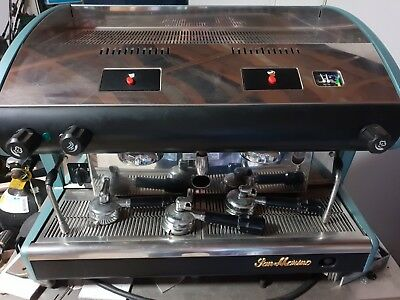 San Marino 2 Group Barista Espresso Coffee Machine Chrome Latte Cappuccino