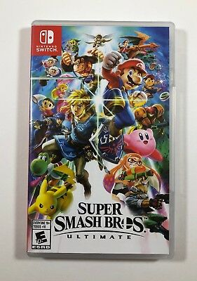 Super Smash Bros. Ultimate (Nintendo Switch, 2018) Free Fast Shipping