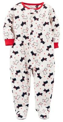 27eb34fdb CARTER S TODDLER GIRLS 1-Piece Fleece PJs - Pastel Bows on White NWT ...