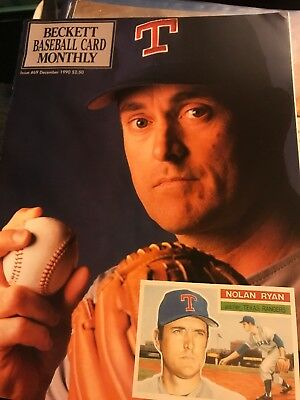 December 1990 Beckett Baseball Card Monthly #69- Nolan Ryan And More