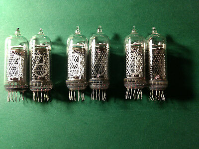 6pcs IN-14 nixie tubes used tested.