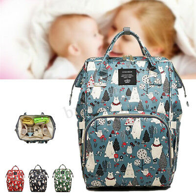 2019 LEQUEEN Mummy Maternity Nappy Baby Diaper Bag Travel Handbag Backpack Large