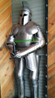 Medieval 16th Century Greek Full Suit of Armor Wearable Costume with Brown Base