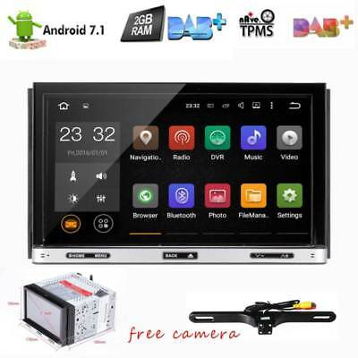 "Android7.1 7"" 2Din InDash Car DVD Radio Stereo Player WiFi 4G GPS+Tablet+CAMERA"