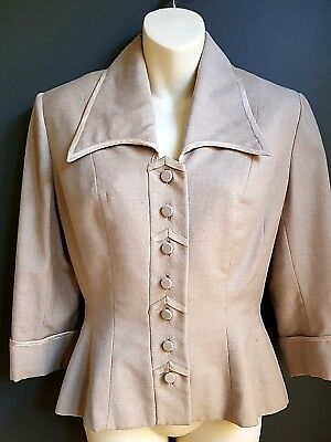 DESIGNER 1950s true vintage swing style Lilli Anne wool jacket - expertly cut!