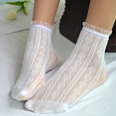 Thin Hollow Floral Cotton Socks Women Lace Ankle Sock Spring Short Low Cut Socks