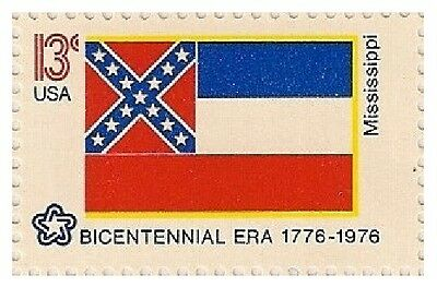 US 1652 State Flags Mississippi 13c single MNH 1976