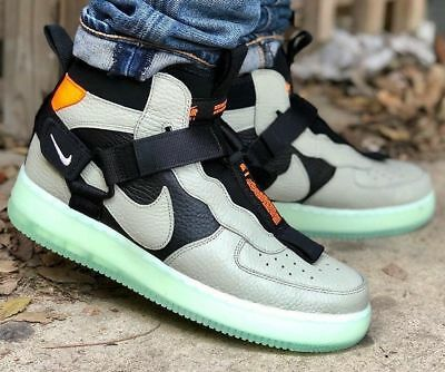 NIKE AIR FORCE 1 Mid Utility Spruce Fog Black Frosted Spruce