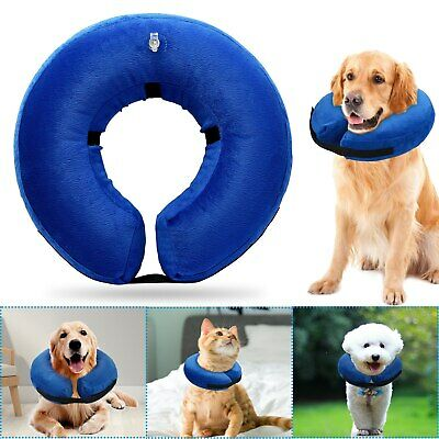 Protective Inflatable Collar Dogs Cats Soft Pet Recovery Large E-Collar Cones