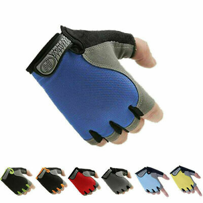Sports Fingerless Gloves - Fitness Gym Training Cycling Biker Driving Wheelchair