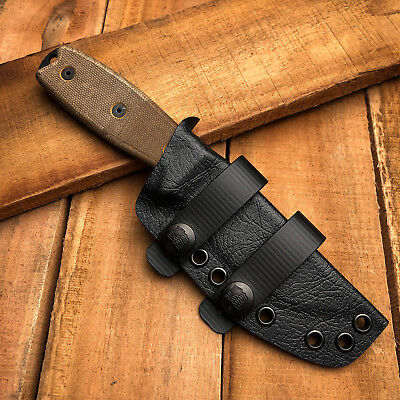 RK Custom Black Tru-Hide Whip Kydex Sheath For Ontario Rat 3 Fixed Knife Scout