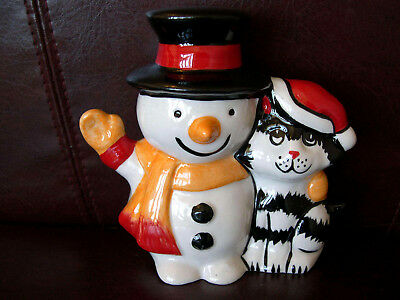 Lorna Bailey Christmas Cat Snowman 1/1 Colourway Signed Numbered With Santa Hat