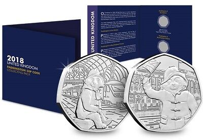 2018 Complete Paddington 50p Collecting Pack [Ref 282J]