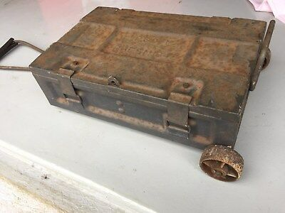 VintageP60 ammunition box on wheels - Mid WWII Stamped 1942 - Collectors Item