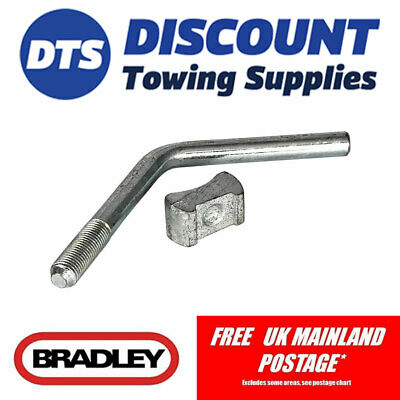 Bradley Replacement Jockey Wheel Pad & Handle for HU12 Trailer Coupling KIT3349