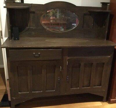 ANTIQUE VINTAGE ARTS and CRAFTS / ART DECO SIDEBOARD BUFFET