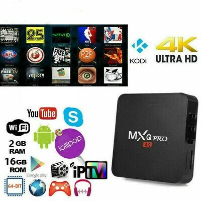 MXQ PRO 4K 2GB 16GB Smart IPTV BOX XBMC Android 7.1 Penta Core 64bit WiFi