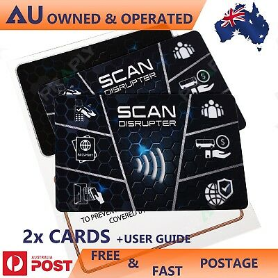 RFID and NFC Scan Blocking Cards for Wallet and Cards Protection & from ID Scan