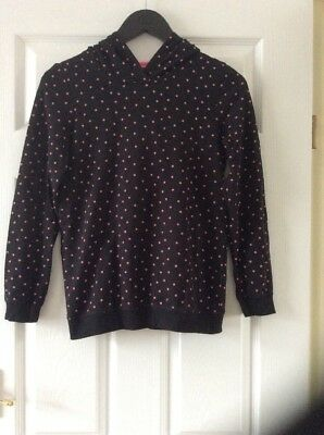 Girls Stars warm Hoody top Age 12-13 Years By George At Asda