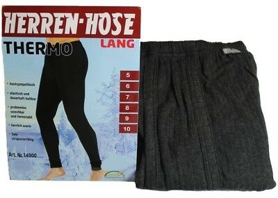 2x warme Herren Thermo Unterhose lang Gr. 12 / 5XL anthrazit Thermounterhose