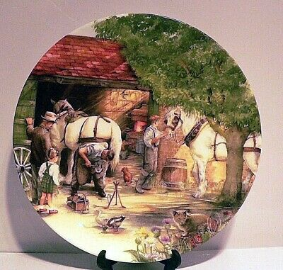 Royal Doulton Collectors Plate: Old Country Crafts The Blacksmith by Susan Neale