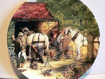 Royal Doulton Collectors Plate The Blacksmith from Old Country Crafts Boxed +P/W