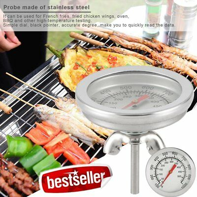 Stainless Steel BBQ Barbecue Smoker Grill Thermometer Temperature Gauge DT