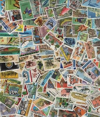 Tanzania Collection of 135+ All Different Early-1980's Mint/Used