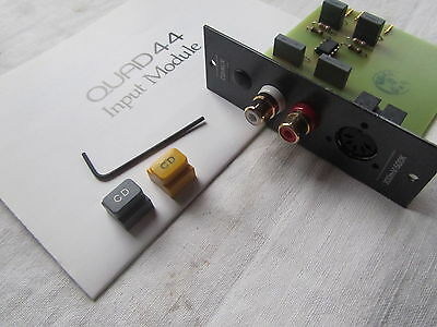 QUAD 44 CD Aux Input Module preamp pre amp preamplifier +buttons instruct's +key