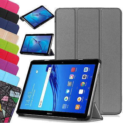 """For Huawei MediaPad T5 10.1"""" Leather Protective Slim Smart Stand Case Cover UK"""