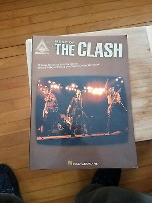 1999 Hal Leonard THE BEST OF THE CLASH song book 17 SONGS w/ tablature punk