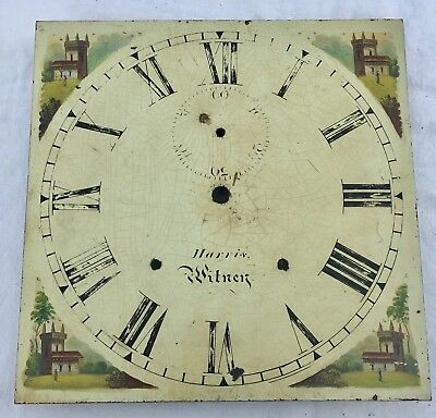"""Antique Longcase/Grandfather Clock Dial By Harris Witney 12"""" By 12"""""""