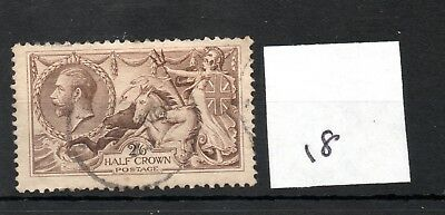 GB - GEORGE V (18) - Seahorses 1913/1918 -  2/6d - fine used - high cat. value