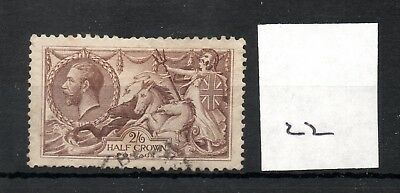 GB - GEORGE V (22) - Seahorses 1913/1918 -  2/6d - fine used - high cat. value
