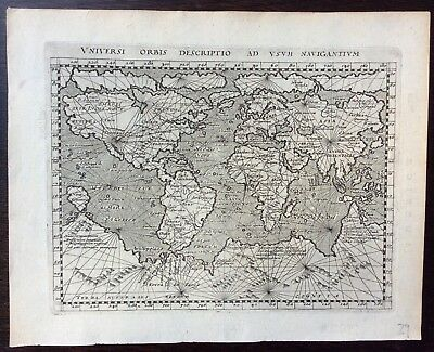 1597 antique map of the world by Giovanni Antonio Magini and Petrus Keschedt