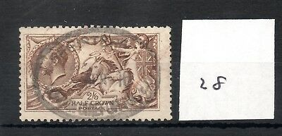 GB - GEORGE V (28) - Seahorses 1913/1918 -  2/6d - fine used - high cat. value