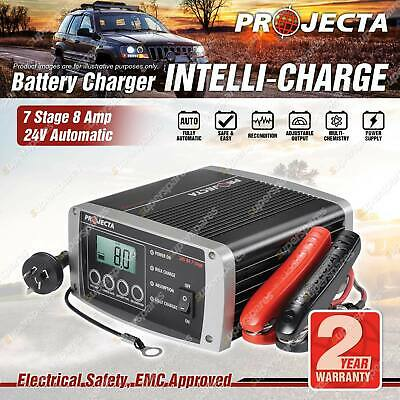 Projecta 24 Volt Automatic 8A 7 Stage Battery Charger Suit AGM Calcium