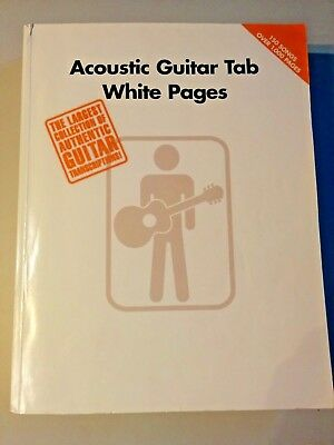 Acoutstic Guitar Tab White Pages transcriptions 150 songs Hal Leonard