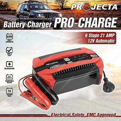 Projecta 12 Volt Automatic 21A 6 Stage Battery Charger Premium Quality