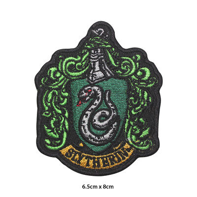 Harry Potter Slytherin Embroidered Patch Iron on Sew On Badge For Clothes etc