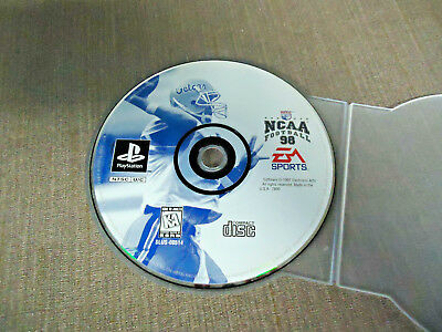 Sony PlayStation 1 PS1 PSX Disc Only Resurfaced NCAA Football 98 EA Black Label