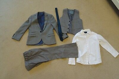 Boys Next Grey 3 Piece Suit Age 7 with shirt and tie