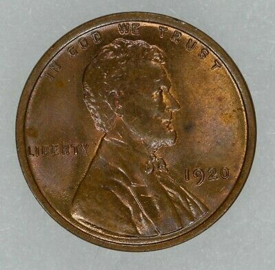 1920 Lincoln Wheat Cent Penny 1C Gem Bu Bn Brilliant Uncirculated Brown (8182)